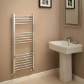 Eco Heat 1200 x 500mm Straight Chrome Heated Towel Rail