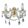 Marie Therese Polished Brass Glass Droplet Wall Light