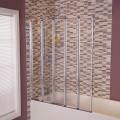 Straight Top 5 Fold Bath Shower Screen