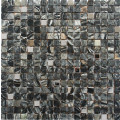 Marble Black and Metal Wall Mosaic