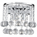 Hanna Chrome Clear Crystal Wall Light