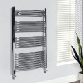 Beta Heat 1150 x 600mm Curved Chrome Heated Towel Rail