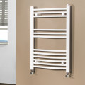 Beta Heat 760 x 500mm Curved White Heated Towel Rail