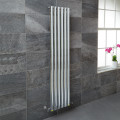 Nevada Beta Heat 1600 x 360mm Single Oval Panel Chrome Vertical Radiator