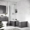 Hudson Reed Amelia Left Hand L Shaped Bath 1700 with Eternalite