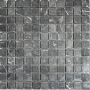Thorus Black Wall/Floor Mosaic Tile
