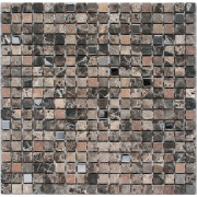 Marble Brown & Metal Wall Mosaic