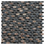 CL Dahli Black Brick Wall Mosaic