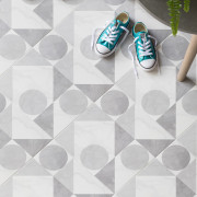 Marble Graphic Floor Tile