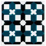 V&A Owen Green/Black Décor Wall Tile