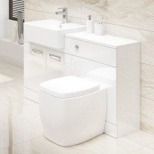 Cuba Combination Unit with Calder Back to Wall Toilet