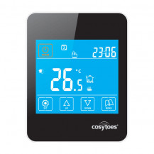 Cosytoes Black Gloss Touchscreen Timerstat for Underfloor Heating