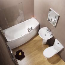Prima Spacesaver Shower Bath Suite