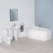 Prima 1500 Left Hand Corner Bathroom Suite