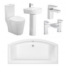 Magnus Ravenna Bathroom Suite with Taps