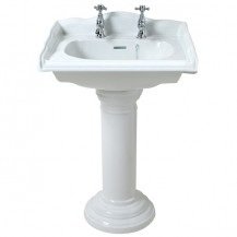 Belfast 2 Tap Hole Square Basin and Pedestal