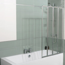Straight Top 4 Fold Bath Shower Screen