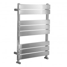 Lorenzo Beta Heat 800 x 600mm Flat Chrome Heated Towel Rail