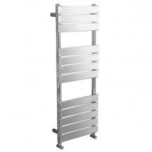 Lorenzo Beta Heat 1200 x 600mm Flat Chrome Heated Towel Rail