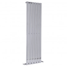 Vega1600 x 450mm Single Flat Panel Chrome Vertical Radiator