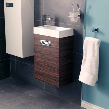 Aspen™ Compact Walnut 410 Wall Mounted Vanity Unit