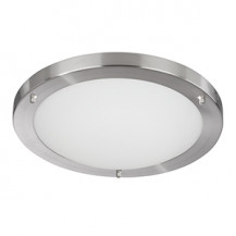 Satin Silver Flush Ceiling/Wall Light