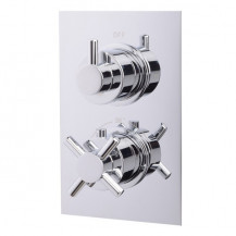 EcoStyle Concealed Dual Control Thermostatic Shower Valve with Diverter