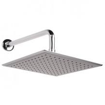 Square 250mm Rain Shower Head & Wall Arm
