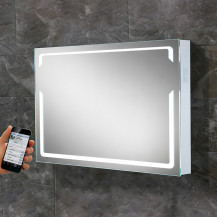 Stereophonic Illuminated LED Audio Mirror 600(H) 800(W) 70(D)