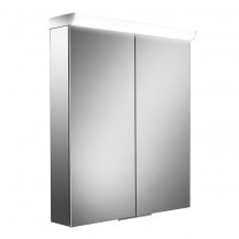 Glacier Double Door Illuminated LED Mirrored Cabinet 700(H) 600(W) 150(D)