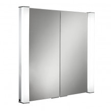 Arora Double Door Illuminated LED Mirrored Cabinet 760(H) 800(W) 155(D)