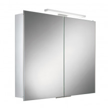 Pluto Double Door Illuminated LED Mirrored Cabinet  700-730(H) 600(W) 125(D)