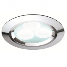 Cool White Chrome LED Recessed Ceiling Light