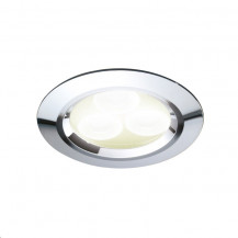 Warm White Chrome LED Recessed Ceiling Light