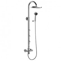 Rocco Premium Rigid Riser Shower Rail Kit with Valve