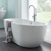 Lisbon 1650 x 750 Luxury Freestanding Bath Plus Free S9 Freestanding Bath Shower Mixer