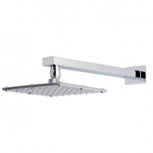 Quadrato Square 175mm Shower Head & Wall Arm