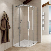 Aquafloe™ Elite ll 8mm 1200 x 900 Frameless Right Hand Offset Quadrant Enclosure