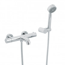 Focus Thermostatic Wall Mounted Bath Shower Mixer with Circo Handset