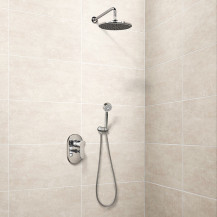 Nuovo Premium Concealed Dual Control Shower Mixer with Head and Handset