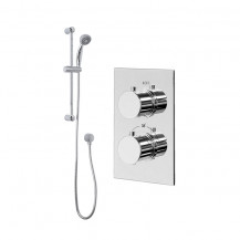Rina Slide Shower Rail Kit with EcoS9 Dual Valve & Wall Outlet