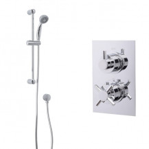 Rina Slide Shower Rail Kit with EcoStyle Dual Valve & Wall Outlet