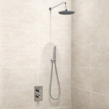 EcoS9 Valve, Handset and Round 20cm Shower Head