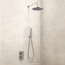 EcoS9 Valve, Handset and Round 25cm Rain Shower Head
