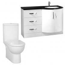 Kirkwood™ Bow Front Right Hand Drawer Unit with Rovigo Toilet
