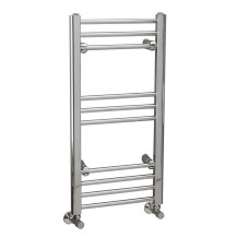 Eco Heat 800 x 400mm Straight Chrome Heated Towel Rail