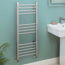 Eco Heat 1000 x 400mm Straight Chrome Heated Towel Rail