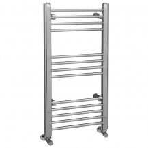 Eco Heat 1000 x 500mm Straight Chrome Heated Towel Rail