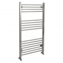 Eco Heat 1200 x 600mm Straight Chrome Heated Towel Rail