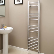Eco Heat 1600 x 400mm Straight Chrome Heated Towel Rail